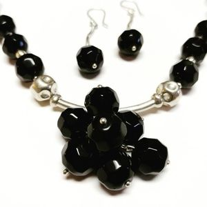 Jewelry - Magnificent Solid 950 Sterling Silver and Black Be