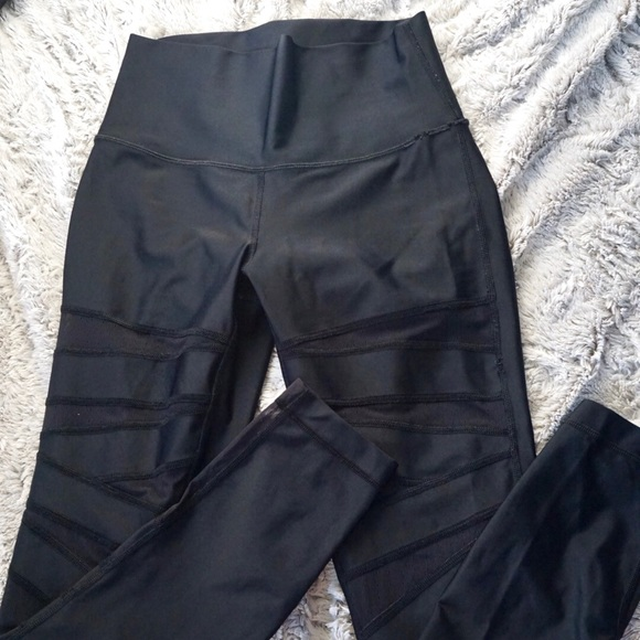 057a4aee1 lululemon athletica Pants - Lululemon Tech Mesh Criss-cross Leggings