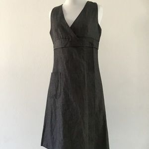 Anna Sui for Anthropologie Gray Wrap Dress size 4
