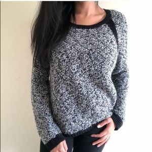 Rachel Roy Black heathered sweater black accents