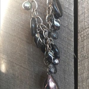 Simple strand necklace.