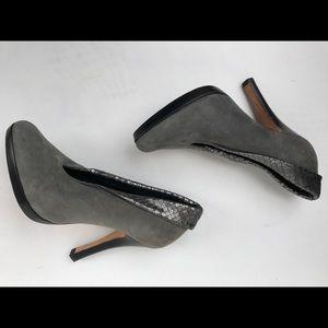 Steven  grey/metallic python booties