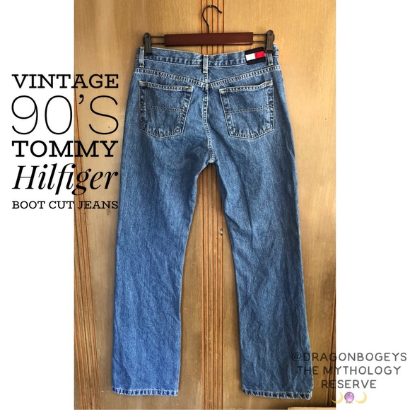 ac49ad86ce9 Vintage 90's Tommy Hilfiger Boot Cut Jeans