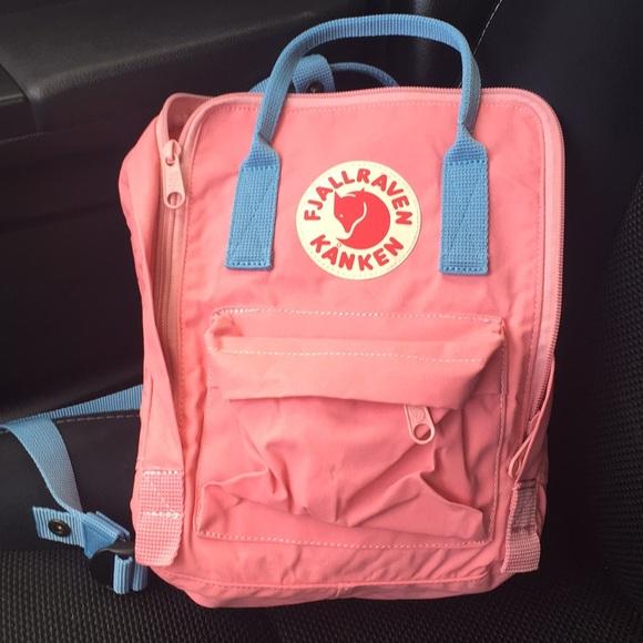 c9998fdfd31 Fjallraven Handbags - Fjallraven Kanken mini pink Air blue backpack bag