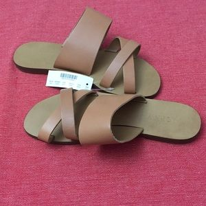 Jcrew Bali leather sandals/slides.  New with tag