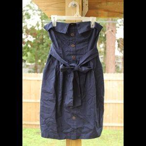 Cute little strapless navy dress