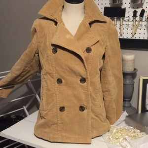 Stylish corduroy pea coat