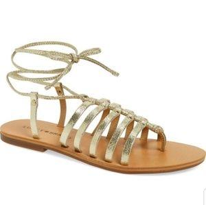 Lucky gold sandals