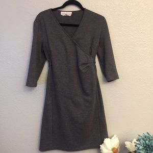 Maternity Knit Wrap Dress