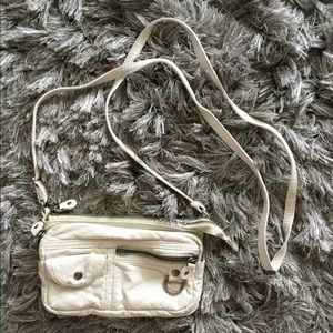 ROXY soft faux leather white mini purse