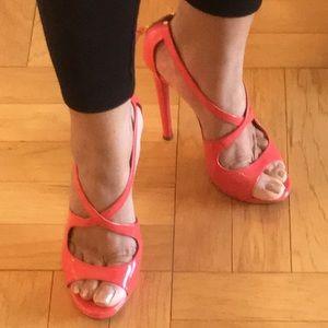 Miu Miu Patent Leather High-heel Sandals