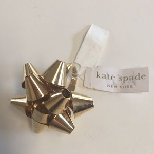 New Kate Spade gold bourgebow ring