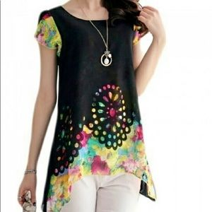 Tops - Colorful Tunic Juniors size Large
