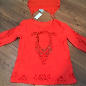 NWT Skies Are Blue Beautiful Embroidered Top