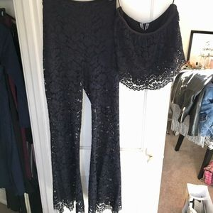 Zara Navy Lace Set