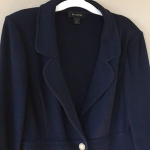 Navy Blue St. John Knit Blazer