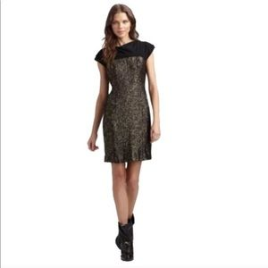 Tory Burch Black Gold Sequin Dress Sz 10