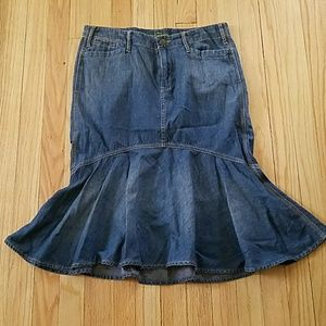 Ralph Lauren Blue Jean Skirt