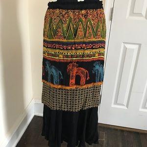 Vintage multi-tier skirt