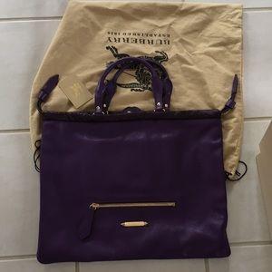 Burberry Large purple tote