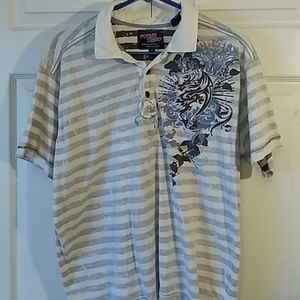 Point Zero Graphic Polo Sz M