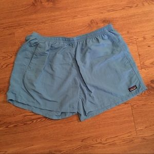 Patagonia Women's Baggies Swim Shorts XL Aqua Blue