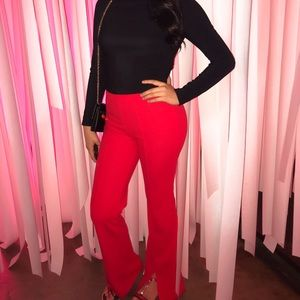 Red Bell Bottom Pants (formal)