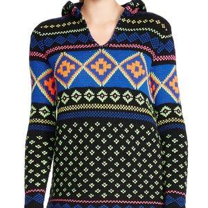 Lauren Ralph Lauren Neon Sweater Pom Pom Hood