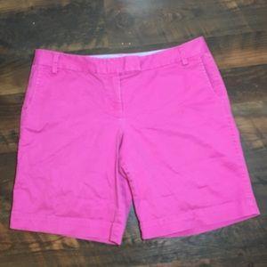 "J crew 10"" Bermuda shorts city fit stretch pink 14"