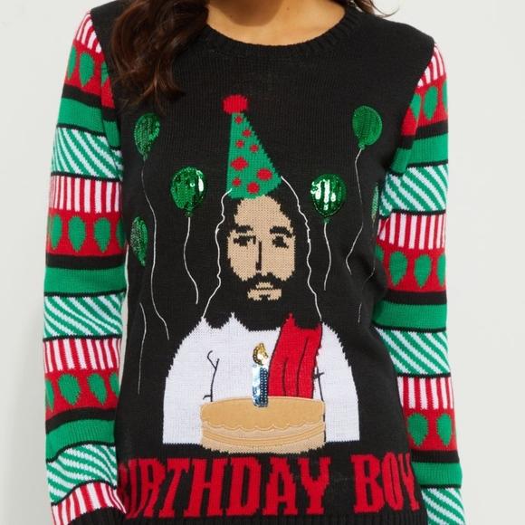 nwt birthday boy christmas sweater needs gone