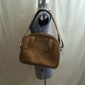 Vintage 70's Brown Carry On Bag