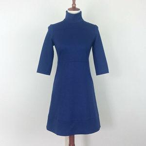 Shoshanna Ponte Knit Blue A-Line Dress