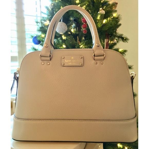 kate spade Handbags - *SALE* Kate Spade ♠️ Cream Leather Satchel