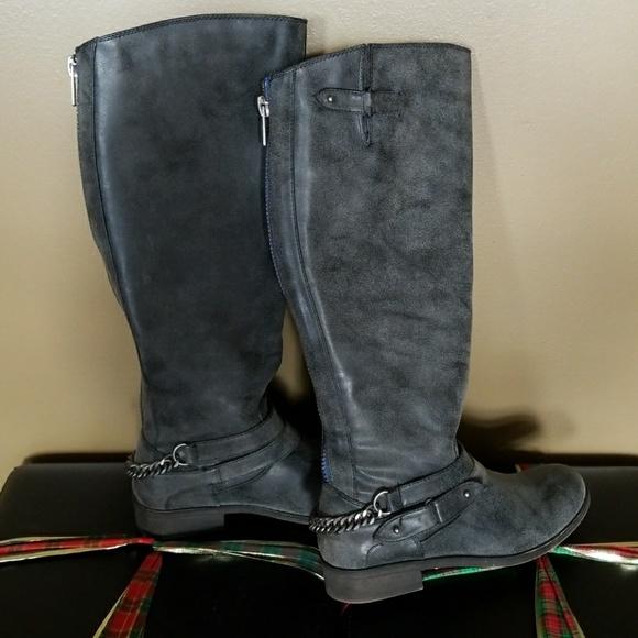 Shoes   Madden Girl Gray Boots   Poshmark