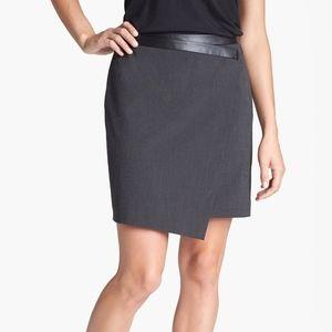 Charcoal gray Trouve asymmetrical miniskirt.