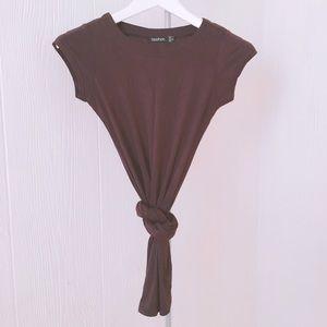 Brown long jersey dress
