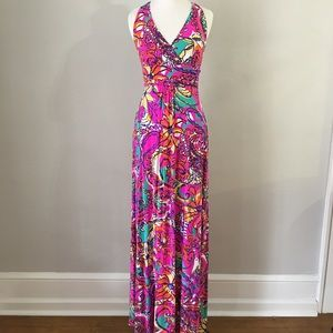 NWT Lilly Pulitzer Maxi Dress Sea or Be Seen XS