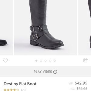 Size 8.5 brand new black boots