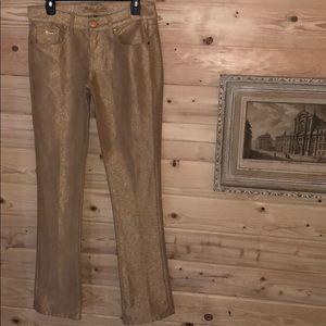 NWOT Ralph Lauren 380 Metallic Gold Jeans