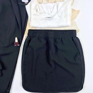 J.Crew Black Side Stripe Pocket Mini Skirt