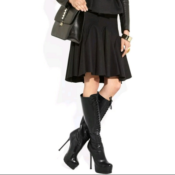 881f0493 YSL Yves Saint Laurent Tribtoo 105 Lace Up Boots NWT