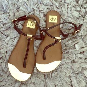 Dolce vita gold metallic toe sandals