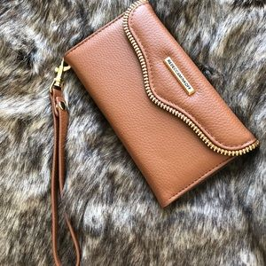 Rebecca Minkoff iphone 7 leather folio wristlet