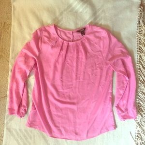 J Crew Factory Pink Blouse