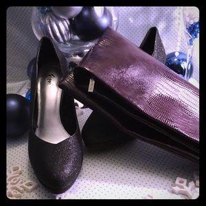 """2a1997461f2 FIONI Shoes - Fiona """"Jubilee"""" Platform Heels + purple clutch"""