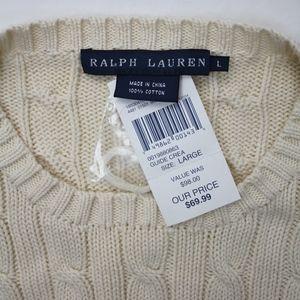 Ralph Lauren Sweaters - Ralph Lauren Ivory Cable Knit Long Sleeve Sweater
