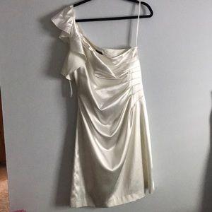 White on strap dress