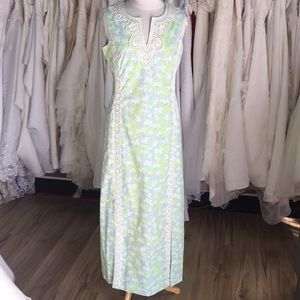 Vintage Lilly Pulitzer pastel green/blue Maxi