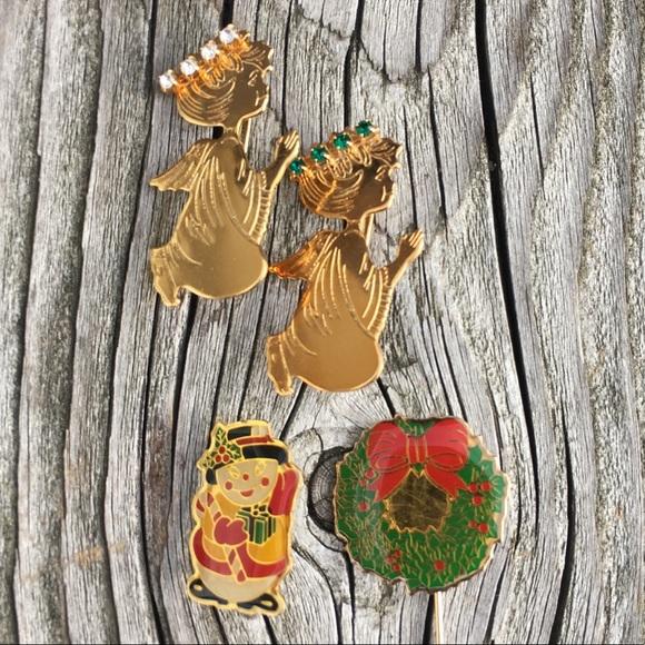 Vintage Jewelry - 🆕List! Vtg Christmas Pin Bundle! EUC!