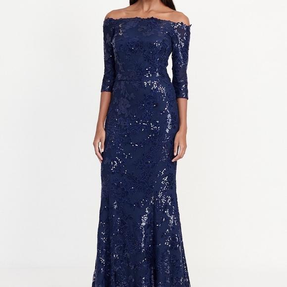 Lauren Ralph Lauren Dresses | Sequin Off The Shoulder Dress | Poshmark